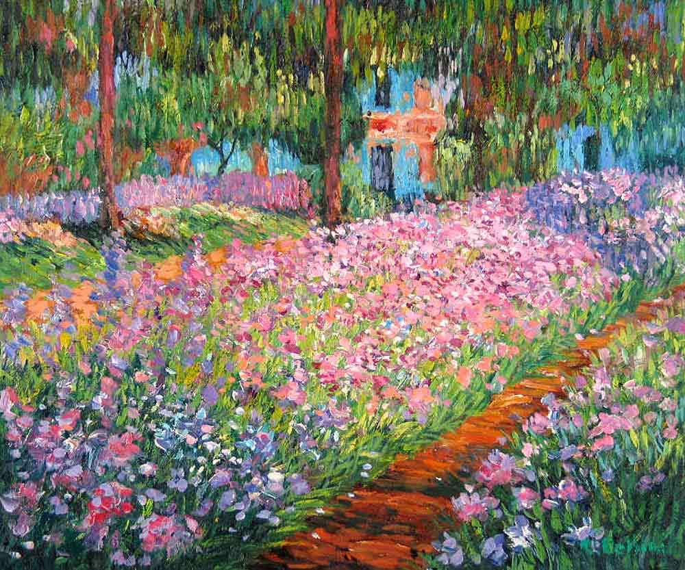 Artist's Garden at Giverny, by Claude Monet